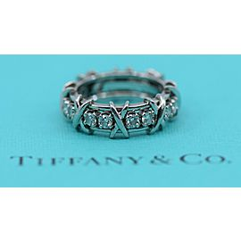 Tiffany & Co Schlumberger Diamond Platinum Ring Size 6.5