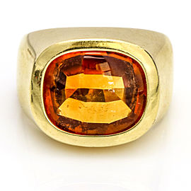 Citrine Ring in 18-karat Yellow Gold