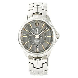 Tag Heuer Link Calibre 7 GMT WAT201C Mens Automatic Watch SS 42mm