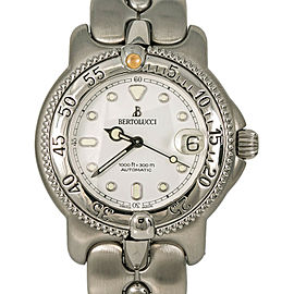 Bertolucci Maris Diver 300M 6298055 Unisex Automatic Watch SS White Dial 37mm