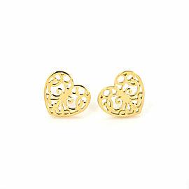 Tiffany & Co. Enchant 18k Yellow Gold Heart Stud Earrings