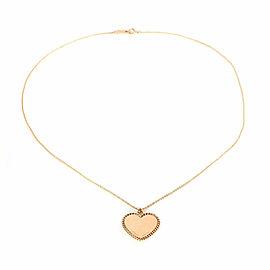 Tiffany & Co. 18k Pink Gold Twist heart Charm & Chain