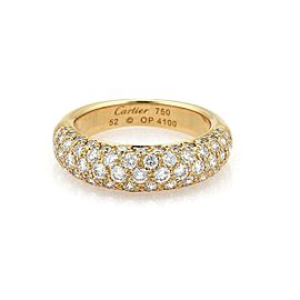 Cartier Étincelle Diamond 18k Yellow Gold Band Ring Size 52