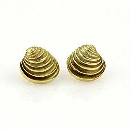 Tiffany & Co. 18k Yellow Gold Sea Shell Stud Earrings