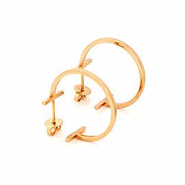 Tiffany & Co. T Wire Hoop 18k Rose Gold Earrings