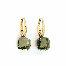 Pomellato Nudo Green Prasiolite Gems Medium 18k Yellow Gold Dangle Earrings