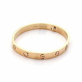 Cartier Love Bangle New Screw in 18k Rose Gold w/Screwdriver & Cert Size 17