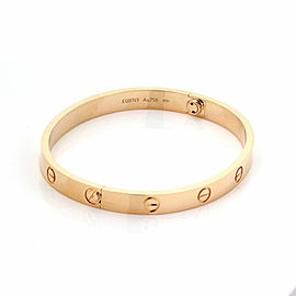 Cartier Love Bangle New Screw in 18k Rose Gold w/Screwdriver & Cert Size 18