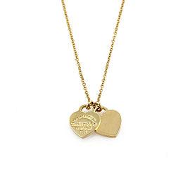Tiffany & Co. Return to Tiffany 18k Yellow Gold Double Mini Heart Pendant