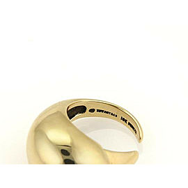 Tiffany & Co. Peretti Claw 18k Yellow Gold Dome Shape Open Claw Ring - Vintage