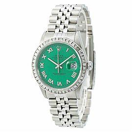Rolex Datejust 16220 Unisex Watch 2.60CT Aftermarket Diamond Stella Dial 36mm