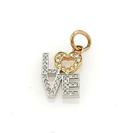 Tiffany & Co. Diamond Love 18k White & Rose Gold Charm