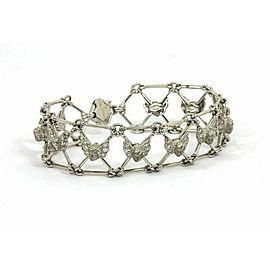 Carrera y Carrera 1.75ct Diamond 18k White Gold Wide Cherub Bracelet