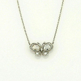 Tiffany & Co. Enchant Diamond Platinum Butterfly Pendant Necklace
