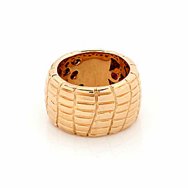 Roberto Coin Rio Road 18k Rose Gold 13.5mm Wide Band Ring Size 7