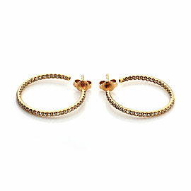 Roberto Coin 0.66ct Diamond 18k Rose Gold Inside Out Hoop Earrings