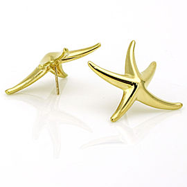 Tiffany & Co. Elsa Peretti 18k Yellow Gold Starfish Earrings