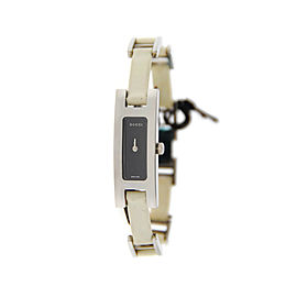 Gucci 3900L G Link Black Dial Stainless Steel Watch YA039525