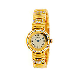 Cartier Colisee Factory Diamonds 18K Yellow Gold Watch
