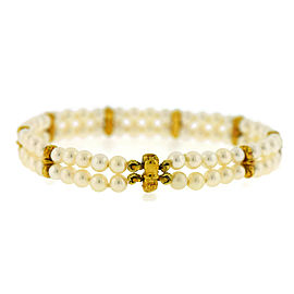 Tiffany & Co 18K Yellow Gold Pearl Bracelet