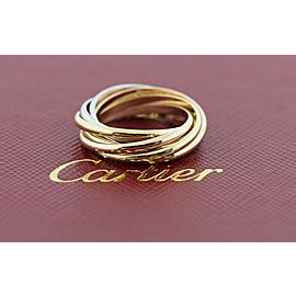 Cartier Trinity 6 Band 18K Tri Color Gold Ring Size 48