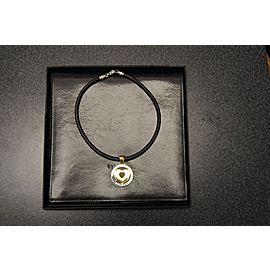 Bvlgari 18K/Stainless Steel Heart Pendant