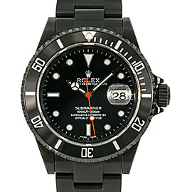 Rolex Submariner 16610T Z Serial 2006 Men's Automatic Watch Black PVD 40mm