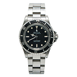 Rolex Submariner Vintage 5513 9.7 Million Serial Unpolished 2 Liner Watch 40mm