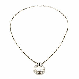 Chopard Chopardissimo Diamond Round 18k Gold Pendant & Chain