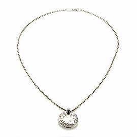 Chopard Chopardissimo Diamond Round 18k Gold Pendant & Chain
