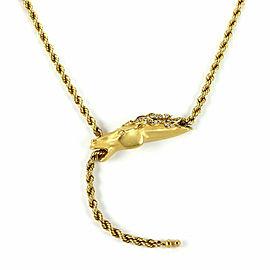 Carrera y Carrera Diamond 18k Yellow Gold Horse Pendant Rope Chain Necklace