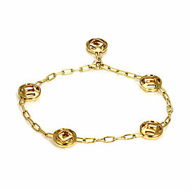 Cartier Pasha 18k Yellow Gold 5 Open Design Round Charms Chain Bracelet