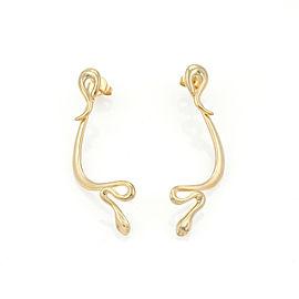 Tiffany & Co. Peretti 18k Yellow Gold Snake Dangle Earrings