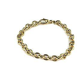 "Gucci 18k Yellow Gold Oval & Mariner Link Bracelet 9"" Long"