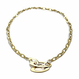 Roberto Coin Chic & Shine Diamond 18k Yellow Gold Marquise Link Necklace