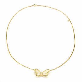 Van Cleef & Arpels Vintage Diamond White Coral Butterfly Pendant