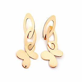Roberto Coin Chic & Shine 18k Rose Gold Butterfly Dangle Earrings