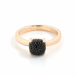 Tiffany & Co. Picasso Sugar Stack Pave Black Spinels 18k Rose Gold Ring Size 6