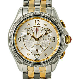 Michele Belmore MW29B01C5018 Women Quartz Watch Chronograph Two Tone SS 34mm