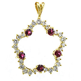 Kurt Wayne 18k Yellow Gold Diamond Ruby Pendant
