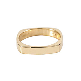 Tiffany & Co.14K Square Yellow Gold 4 mm Wedding Band Ring 6.8 Grams Size 10