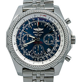 Breitling Bentley Motors A25362 Men Automatic Chronograph Blue Dial Watch 49mm