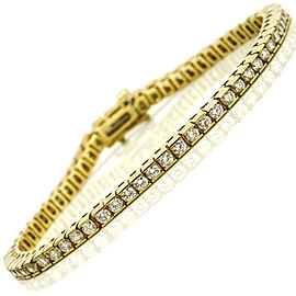 3.75 Carat 14k Yellow Gold Channel Set Diamond Tennis Bracelet