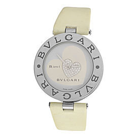 Ladies Bvlgari Bulgari B. Zero 1 Double Heart BZ35S Steel Diamond 35MM Watch