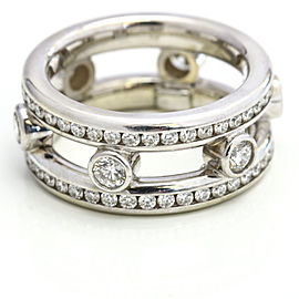 2.33 Carat 18k White Gold Diamond Eternity Band Ring