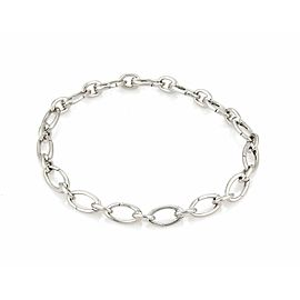Tiffany & Co. 18k White Gold All Around Oval Clasping Link Chain Bracelet