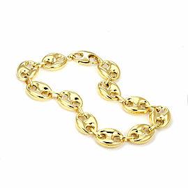 Marine Link 12mm Wide 14k Yellow Gold Bracelet