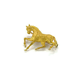 Carrera y Carrera 3 Dimensional 18k Yellow Gold Horse Brooch Pin