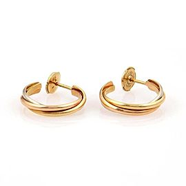 Cartier Trinity De Cartier 18k Tri Color Gold Hoop Earrings