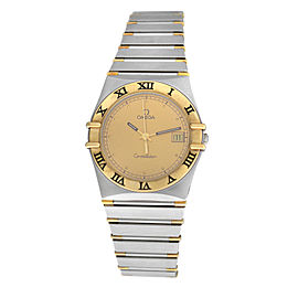 Unisex Omega Constellation 396.1070 Half Bar Gold 32MM Quartz Date Watch